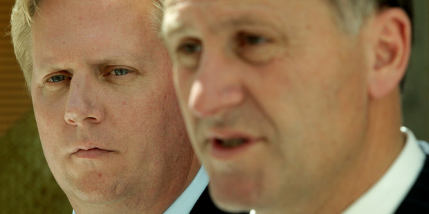Trade Minister Todd McClay (left) has apologised to John Key over his handling of a potential trade retaliation from China. Photo / Alan Gibson
