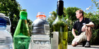 EASY MONEY: Marty Hoffart is calling for a cash incentive to motivate people to recycle bottles. Photo/George Novak
