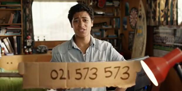 Rolleston in a Vodafone NZ ad. Photo / Supplied