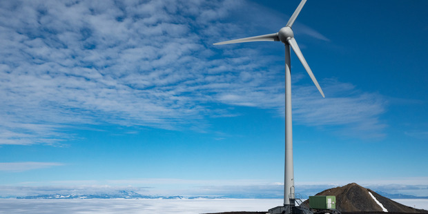 Antarctica New Zealand Trustpower wind turbines. The company says money spent applying for resource consents should be tax deductible.