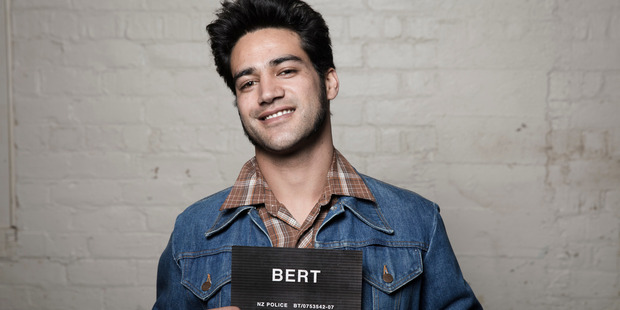 Pana Hema-Taylor stars as Bert in Kiwi television show Westside. Photo / Supplied