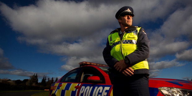Rotorua police are cracking down on drivers using cellphones and not wearing seat belts as part of a nationwide sting, dubbed 'Operation Habit'. Pictured Sergeant Dave Hamilton. PHOTO/FILE