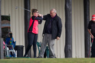 Ruth Dacey receives a golfing masterclass at Lake View Golf Club. PHOTO/STEPHEN PARKER