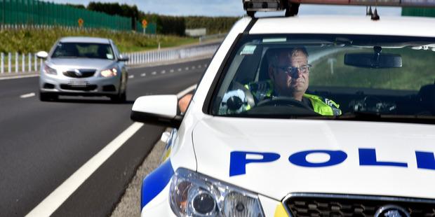 Western Bay road policing Sergeant Wayne Hunter monitoring traffic speeds. Photo/file
