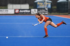 Hockey Midlands U18 Girls playing North Harbour. Poppy Porter. 29 May 2016 Bay of Plenty Times Photograph by George Novak BTG 31May16 - TOTAL FOCUS: Tauranga's Poppy Porter in action for Mi