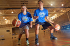 300116aw19bop Tauranga Moana basketball team pic NZ basketball reps Briarley Rogers and Shalom Broughton 30 January 2016 The Bay of Plenty Times Photograph by Andrew Warner.