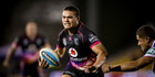 Warriors player Tuimoala Lolohea in action during the NRL Rugby League match between the Warriors and the Newcastle Knights. Photo / Dean Purcell.