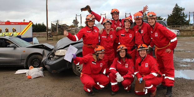 The Whanganui Red Cross team were deployed to a motor vehicle accident as part of Exercise Viking Thunder last weekend in Dannevirke.