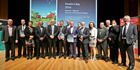 BOOST: Government ministers and regional business and iwi leaders at the launch of Matariki - the regional economic development strategy for Hawke's Bay yesterday. PHOTO/WARREN BUCKLAND