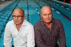 Taradale Primary School principal Marty Hantz (left) and Greendale Swim Club member David Gray, at the Greendale pool complex. Photo / Paul Taylor