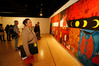 Chrisse Serville, from Kaiwaka, at the Whangarei Art Museum, which has had a record year for visitors. Photo / John Stone