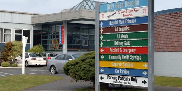 Grey Base Hospital. Photo / NZPA