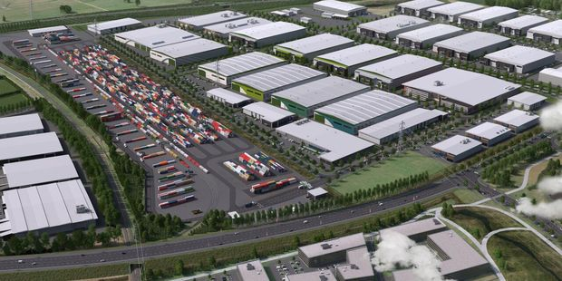 WATERLESS PORT: An artist's impression of the proposed Tainui Group Holdings Ruakura inland port and logistics hub. (GRAPHIC/SUPPLIED)