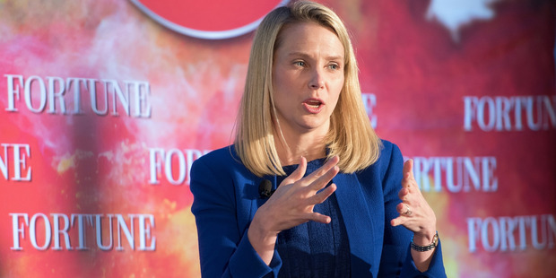President and CEO of Yahoo Marissa Mayer originally rejected Tim Armstrong's offer to merge with AOL. Photo / Getty Images