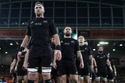 All Black captain Kieran Read leads the haka during the International Test match between the New Zealand All Blacks and Wales. Photo / Getty Images.