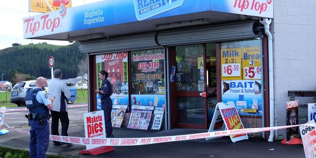 A dairy in Waihi was robbed earlier this afternoon by a man wielding a gun. Photo/Melanie Camoin