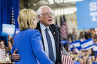 A cache of leaked emails from Democratic Party leaders' accounts includes messages suggesting an insider effort to wound the upstart Sanders campaign that had competed with Clinton. Photo / Bloomberg