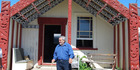 SPECIAL: The late Arthur Moke - who proposed Guide Bella's whare for listing as a wahi tupuna - in front of Te Awa i Manukau. PHOTO/SUPPLIED