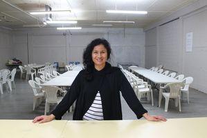 Petrina Toimata at the Hamilton Homeless Trust serving area