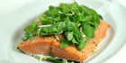 Slow-roasted Vietnamese salmon.