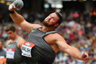 Tom Walsh of New Zealand in the Mens Shot Put during Day Two of the Muller Anniversary Games. Photo / Getty Images.