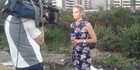 Today Show reporter Christine Ahern and her cameraman were almost robbed just minutes after touching down in Rio. Photo / Twitter / Christine Ahern