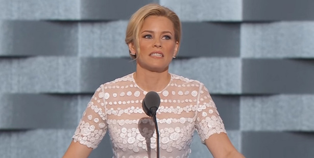 Loading Elizabeth Banks' jokes tanked with the crowd at the Democratic convention.