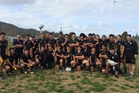 SCORCHED EARTH POLICY: Mangonui rep players celebrate winning the Northland U15 tournament title for the second consecutive year in Whangarei last Friday.