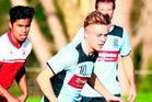 MOVING FORWARD:Northland FC's Kyle Levell controls the ball. Northland FC take on Onehunga-Mangere at Tikipunga. PHOTO/TANIA WHYTE