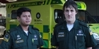 Watch: Watch: Paramedics talk lucky escape after ambulance overturns