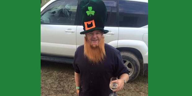 Andy Thompson. The one local body politician that Dom George respects...dressed as a leprechaun.
