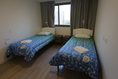 Beds stand ready in the bedroom of an apartment of the Olympic Village in Rio de Janeiro, Brazil. Photo / AP
