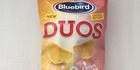 Bluebird Duos cheddar and crispy bacon chips $2.15 for 140g. Photo / Supplied