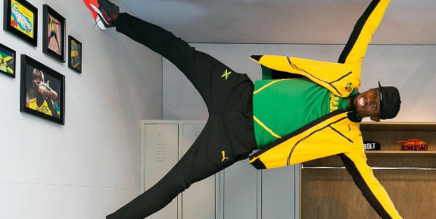 Loading Usain Bolt posted this gravity-defying photo on Instagram. Photo / @usainbolt