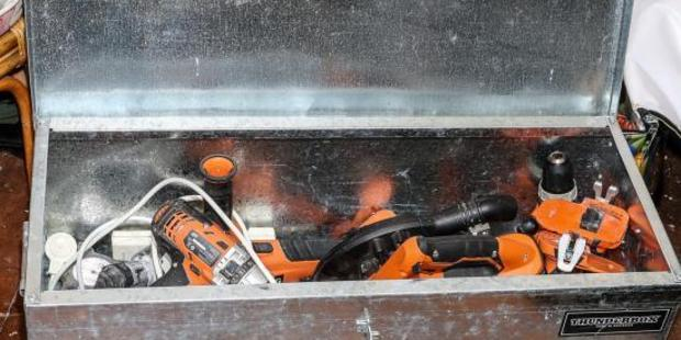 Power tools, including Makita brand, have been recovered in Wellington. Photo / Supplied
