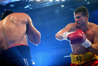 Luan Krasniqi of Germany fights Alexander Dimitrenko of Ukraine. Photo / Getty Images.