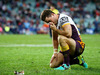 Ben Hunt of the Broncos looks dejected during the round 21 NRL match between the Sydney Roosters and the Brisbane Broncos. photo / Getty