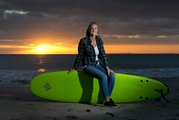 Counsellor Krista Davis is using her love of surfing to give young men struggling with addiction an unusual form of therapy. Photo / Alan Gibson