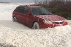 Watch: Foam whipped up on the West Coast