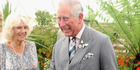The heir to the throne erupted with laughter when asked if he recognised any of the royal family. Photo / Getty