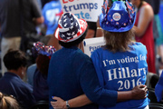 Delegates attend the first day of the Democratic National Convention in Philadelphia. Photo / AP