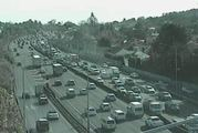 The Southern Motorway is snarled heading south after a crash near Greenlane. Photo / NZTA