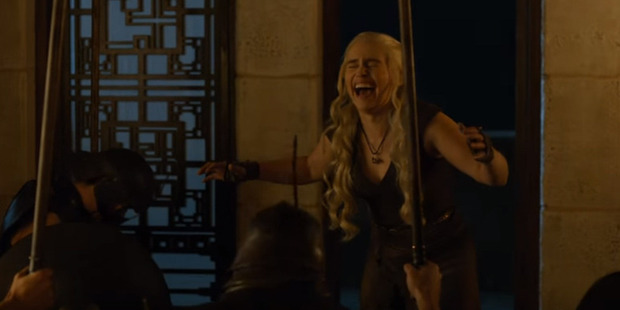 Even the mother of dragons can have a laugh at her own expense.