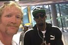 Kiwi rower Eric Murray (left) takes a selfie with Olympic sprinter Usain Bolt (right). Photo / Twitter