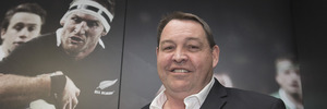All Blacks coach Steve Hansen after announcing he'll remain in the role until 2019. Photo / Mark Mitchell