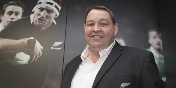 Loading All Blacks coach Steve Hansen after announcing he'll remain in the role until 2019. Photo / Mark Mitchell
