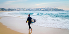 Homesick Australians can listen to waves crashing at Bondi Beach and other quintessentially Australian sounds when they dial the news 1800 STRAYA phone number. Photo / iStock