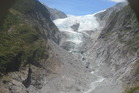 The images, taken at the end of summer in 2016, shows how Franz Josef Glacier has retreated 1.5km since 2011. Photo: Brian Anderson