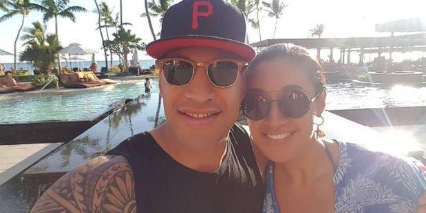 Izzy Folau and Maria Tutaia. Photo / Instagram