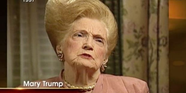 This image of Trump's late mother Mary has been circulating on Twitter. Photo / Twitter, Foxtel